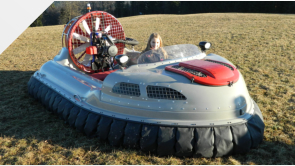 Twin engine hovercraft