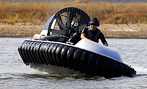 hovercraft above to fly
