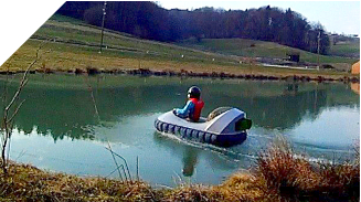 mini hovercraft lake